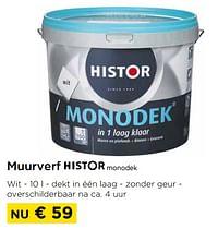 Muurverf monodek-Histor