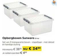 Opbergboxen sunware q-line-Sunware