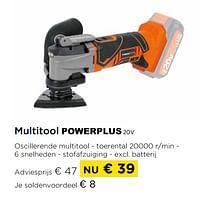 Powerplus multitool 20v-Powerplus