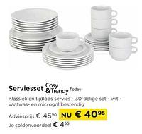 Serviesset today-Cosy & Trendy