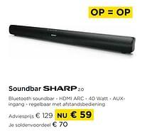 Sharp soundbar 2.0-Sharp