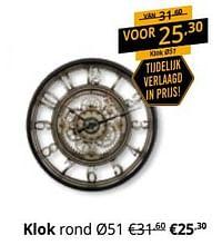 Klok rond-Huismerk - Ygo