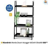 Wandrek wonka zwart 4xlegger-Huismerk - Ygo