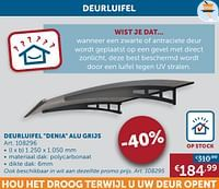 Deurluifel denia alu grijs-Huismerk - Zelfbouwmarkt