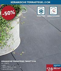 Keramische terrastegel rock 2 cm-Huismerk - Zelfbouwmarkt