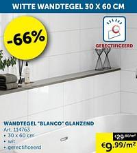 Wandtegel blanco glanzend-Huismerk - Zelfbouwmarkt