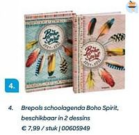 Brepols schoolagenda boho spirit, beschikbaar in 2 dessins-Brepols