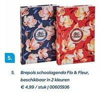 Brepols schoolagenda flo + fleur, beschikbaar in 2 kleuren-Brepols