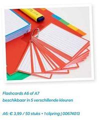 Flashcards a6 + 1 clipring-Huismerk - Ava
