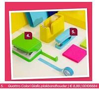Quattro colori giallo plakbandhouder-Quattro Colori