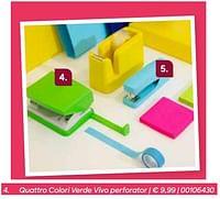 Quattro colori verde vivo perforator-Quattro Colori