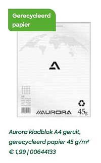 Aurora kladblok a4 geruit, gerecycleerd papier-Aurora