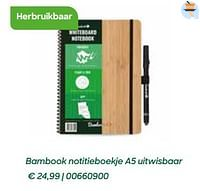 Bambook notitieboekje a5 uitwisbaar-Bambook