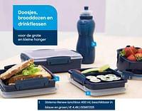 Sistema renew lunchbox 450 ml, beschikbaar in blauw en groen-Sistema