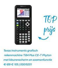 Texas instruments grafisch rekenmachine ti84 plus ce-t phyton-Texas Instruments