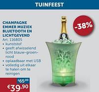 Champagne emmer muziek bluetooth en lichtgevend-Huismerk - Zelfbouwmarkt