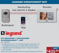 Kit videofonie + touchscreen kleurenscherm 7`` + app-Legrand