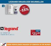 Legrand draadloze deurbellen-Legrand
