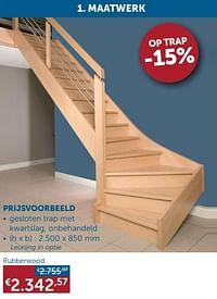 Prijsvoorbeeld rubberwood-Huismerk - Zelfbouwmarkt