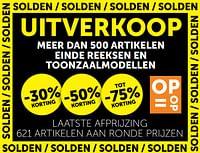 Uitverkoop meer dan 500 artikelen einde reeksen en toonzaalmodellen -30% korting-Huismerk - Zelfbouwmarkt