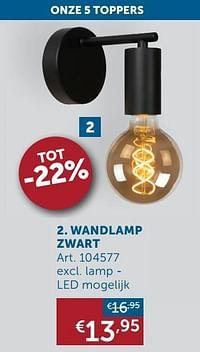 Wandlamp zwart-Huismerk - Zelfbouwmarkt