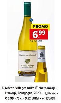 Mâcon-villages aop chardonnay-Witte wijnen