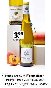 Pinot blanc aop pinot blanc-Witte wijnen
