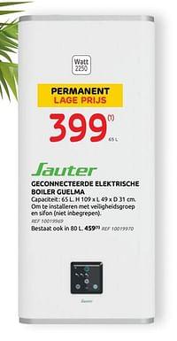 Sauter geconnecteerde elektrische boiler guelma-Sauter