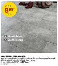 Vloertegel beton fango-Huismerk - Brico