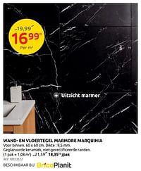 Wand- en vloertegel marmore marquinia-Huismerk - Brico
