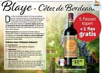 Blaye - côtes de bordeaux 5 flessen kopen + 1 fles gratis-Rode wijnen