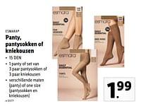 Panty, pantysokken of kniekousen-Esmara