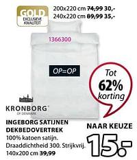 Ingeborg satijnen dekbedovertrek-Kronborg