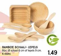 Bamboe schaal-- lepels-Huismerk - Xenos