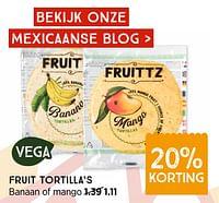 Fruit tortilla`s banaan of mango-Huismerk - Xenos