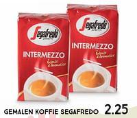 Gemalen koffie segafredo-Segafredo