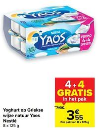 Yoghurt op griekse wijze natuur yaos nestlé-Nestlé
