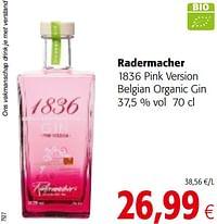 Radermacher 1836 pink version belgian organic gin-Radermacher
