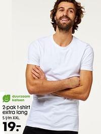 2-pak t-shirt extra lang-Huismerk - Hema