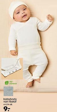 Babybody van ribstof-Huismerk - Hema