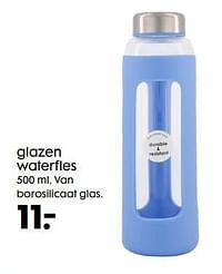 Glazen waterfles-Huismerk - Hema