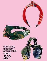 Haarband, diadeem of scrunchie-Huismerk - Hema