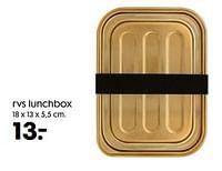 Rvs lunchbox-Huismerk - Hema