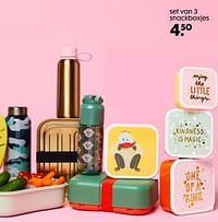 Set van 3 snackboxjes-Huismerk - Hema