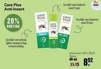 Care plus anti-lnsect 40% deet spray-Care Plus