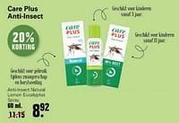 Care plus anti-lnsect natural lemon eucalyptus spray-Care Plus