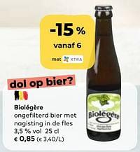 Biolégère ongefilterd bier met nagisting in de fles-Biolégère
