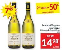 Mâcon•villages of bourgogne château de la tour de l`ange wit-Witte wijnen