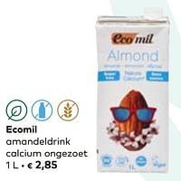 Ecomil amandeldrink calcium ongezoet-Ecomil