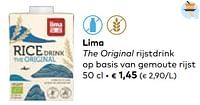 Lima the original rijstdrink op basis van gemoute rijst-Lima